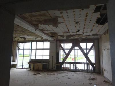 被災した教室
