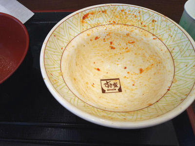 ニンニクの芽牛丼 完食