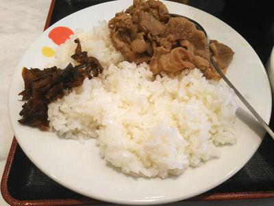 カレーギュウ ライスと牛肉