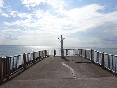 稲毛海浜公園 桟橋からの景色
