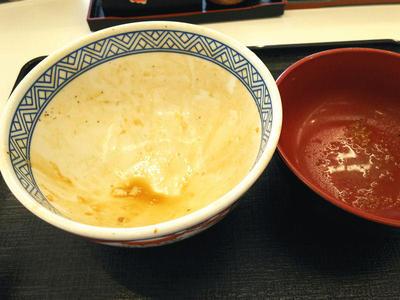鶏すき丼 完食
