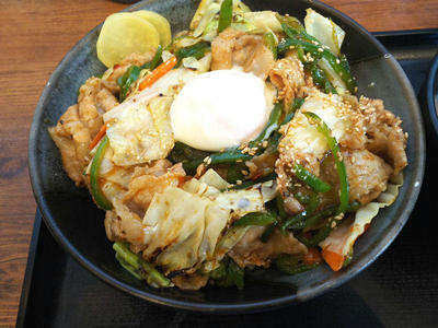 甘辛肉野菜丼