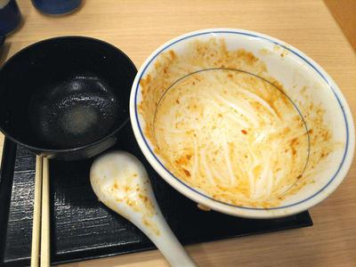 麻婆チキンカツ丼 完食
