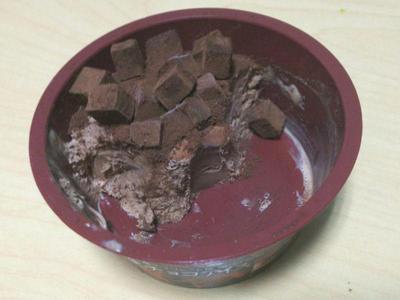 生チョコアイス 残り半分