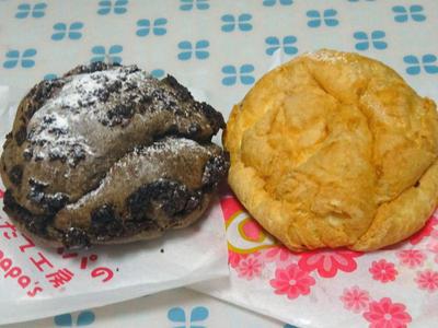 チェルシーシューとクッキー&クリームシュー