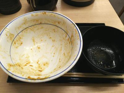 チキンカレーかつ丼 完食