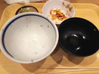 海鮮丼と鶏肉団子定食 完食