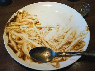 ハンバーグカレー 完食