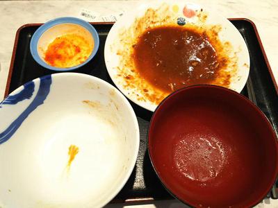 回鍋肉定食 完食