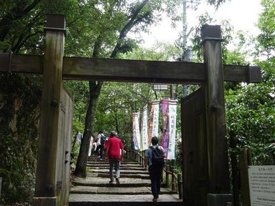 岐阜城への階段