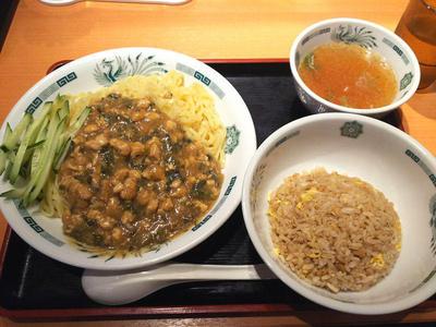 ガパオ汁なし麺とミニチャーハン