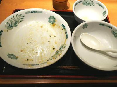 ガパオ汁なし麺 完食