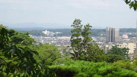 久保田城本丸跡からの景色