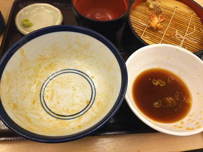 穴子とめごちの天丼セット 完食