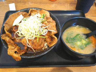 北海道すた丼と豚汁