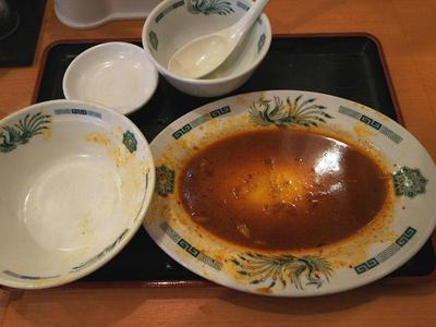 バクダン炒め定食 完食