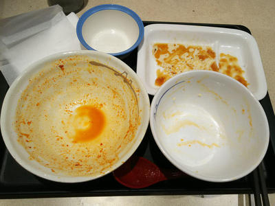 チゲ牛カルビ焼肉膳 完食