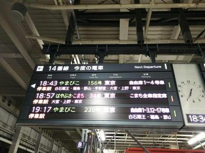 新幹線ホーム 時刻表