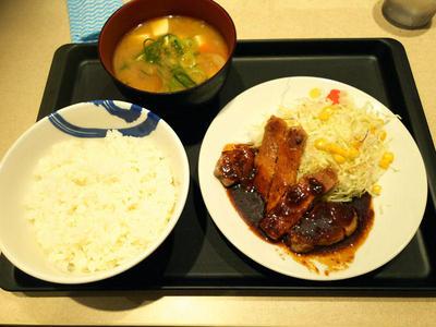 厚切り豚テキ定食