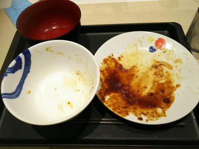 厚切り豚テキ定食 完食