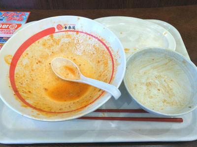 野菜担々麺 完食
