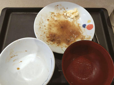 豚肩ロースの生姜焼定食 完食