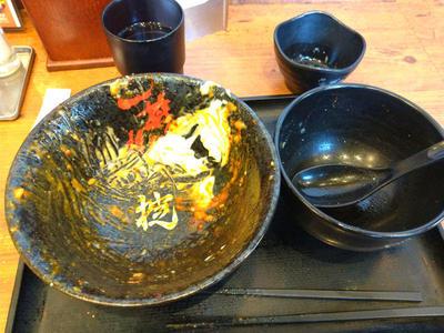 牛カルビ辛すた丼 完食