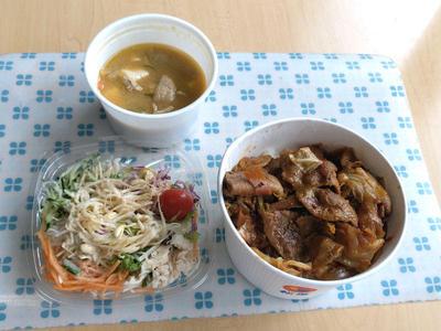 回鍋肉丼と豚汁