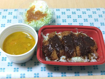 味噌ロースかつ丼ポテキャベ 豚汁セット