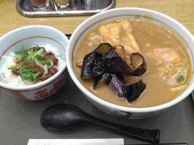 カレーうどんセット ミニ土手煮丼