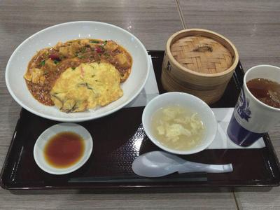 麻婆天津飯 飲茶セット