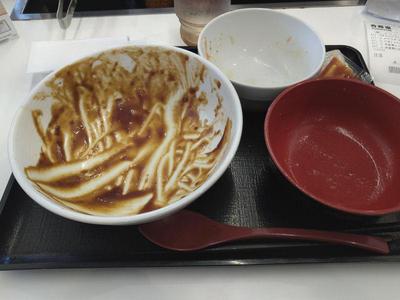牛カルビ黒カレー 完食