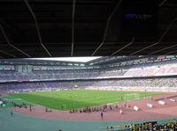 日産スタジアム なんだか横長な風景