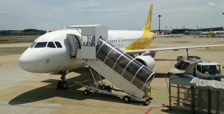 成田空港 搭乗機