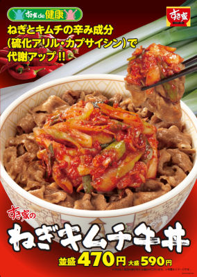 すき家 ねぎキムチ牛丼