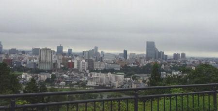 仙台城址からの眺め