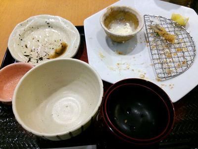 鯵フライ定食完食