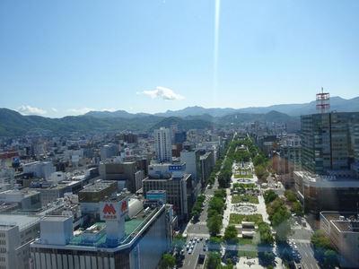 札幌テレビ塔展望台より 大通公園