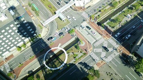 札幌テレビ塔展望台より真下を見下ろす