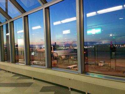 夕方の新千歳空港
