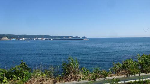 久慈港近くの海