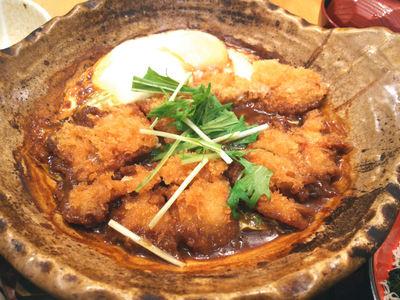 チキンの味噌かつ煮