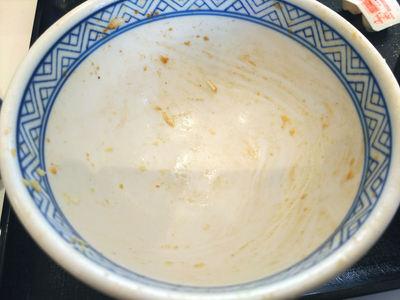 牛カルビ生姜焼き丼 完食