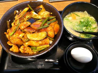 味噌すたみな丼と豚汁