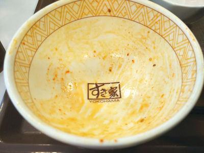 ねぎキムチ牛丼 完食