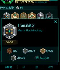 Translatorプラチナメダル