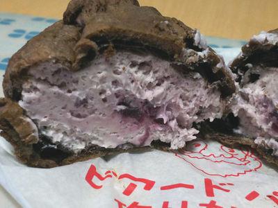 ブルーベリーチーズケーキシュー アップ