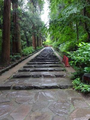 瑞鳳殿前の参道