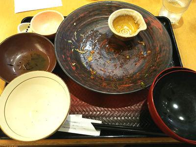八丁味噌ダレヒレかつ定食 完食
