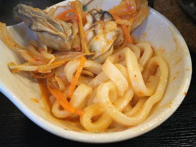 牡蠣カレー煮込みうどん 牡蠣